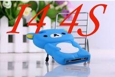 Rilakkuma Case For iPhone 5S Case 3D Cute Brown Bear Cover For iPhone 5 5S SE 4 4S 5C Silicone Phone Cases Capa Funda Coque Para