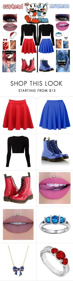 """Cuphead & Mugman"" by queenreigns-916 ❤ liked on Polyvore featuring Topshop, Cushnie Et Ochs, Dr. Martens, Anastasia Beverly Hills, Ted Baker, Sparkling Sage, LoveBrightJewelry, Essie and OPI"