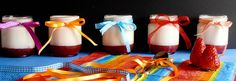 7gramas de ternura: Iogurtes com  Pedaços de Morango
