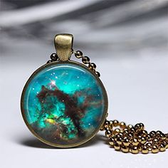 Amazon.com: Necklace Nebula Galaxy Universe Space Man Girls Women Boys Handmade Pendant