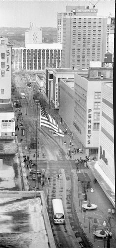 Nicollet Mall, 1972, by Mike Evangelist.