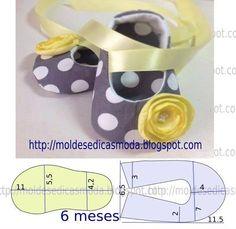 Diy idea how to make tutorial sew pattern baby girl shoes Aprende más sobre de los bebés en somosmamas.com.ar. http://www.somosmamas.com.ar/bebes