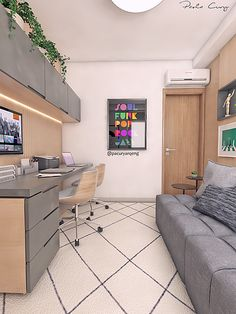 Home Office Layouts, Home Office Setup, Guest Room Office, Home Office Space, Modern Home Offices, Small Home Offices, Home Room Design, House Design, Study Room Design