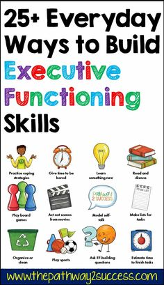 Over 25 unique and fun ways to build executive functioning skills into your every day. These strategies include games, using literature, puzzles, art, brain games, sports, conversations, brain breaks, and a whole lot more! Social Emotional Learning, Social Skills, Cult Of Pedagogy, Game Organization, Appropriate Behavior, Co Teaching, Movie Talk, Executive Functioning, Building For Kids