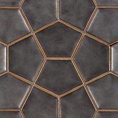 "Ann Sachs - Ogassian 8-3/4"" x 11-7/8"" penta 3d field in metallic black starting @ 87.19 SF"