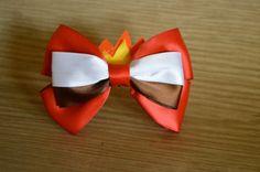 Inside Out Anger inspired Disney hair bow por AwayWeGoBows en Etsy