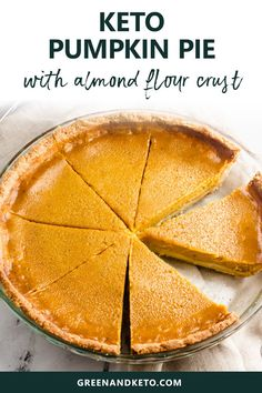 Keto Pumpkin Pie - Sugar Free Keto Pumpkin Pie is an easy low-carb dessert to make for Fall, Thanksgiving, or Christmas. Gluten-free and sugar-free, but so delicious even non-keto eaters will love it Desserts To Make, Low Carb Desserts, Low Carb Recipes, Dessert Recipes, Meal Recipes, Holiday Desserts, Dinner Recipes, Diet Desserts, Cookie Recipes