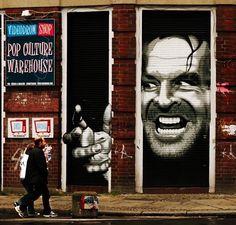 #street #streetart #art #jacknicholson #jack #nicholson #amazing #hollywood #movie#stanley #kubrick #stanleykubrick #popculture #theshining #shining by stark_wayne