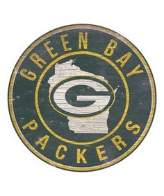 Look at this #zulilyfind! Green Bay Packers State & Logo Wall Sign #zulilyfinds