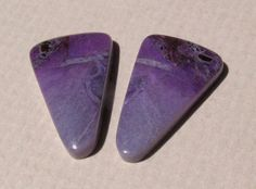 Sugilite Matched Cabochon Pair-15 Cts. Total  20mm L X 12.5mm W Each by TreasureEverywhere on Etsy