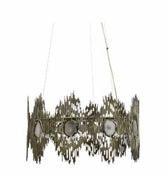 Abstract Art: Koket sets neutral agate stones within an abstract metal composition for a decidedly modern profile in the Vivre chandelier. October 2013 #hpmkt
