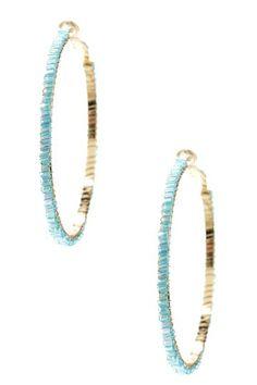 8d27cb07189d Beaded Hoop Earrings by Cara Accessories on  HauteLook Gemas
