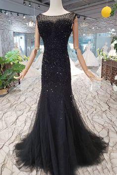 Tulle Trumpet/Mermaid Sweep Train Prom Dresses,PL5145 on Luulla