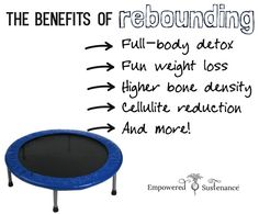 The benefits of rebounding include detox, weight loss, cellulite reduction and more. Learn how to practice rebounding for wellness!