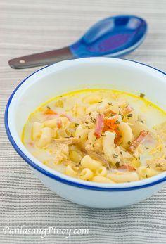 Filipino Chicken Macaroni Sopas_-2