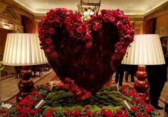 Floral heart by Philip Hammond with Red Naomi Roses of Porta Nova