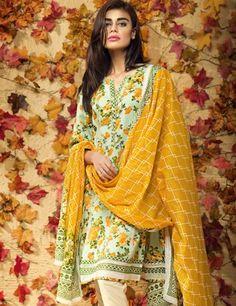 Khaadi Multi Pakistani Cotton Lawn Suit With  Dupatta L15581A