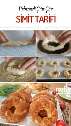Simit Tarifler How to Make Bagel Recipe with Molasses? Illustrated explanation of Pekmezli Simit Rec Simit Recipe, Bagel Recipe, How To Make Bagels, Molasses Recipes, Tasty, Yummy Food, Delicious Recipes, Turkish Recipes, Food And Drink
