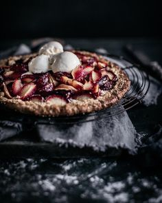 "Anisa Sabet | The Macadames (@anisa.sabet) on Instagram: ""Today on the blog: a sweet plum galette that might just change your life . I made this using plums…"""