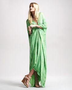 #BGSale : Roberto Cavalli Snake-Print Caftan Gown.