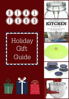 Real Food Holiday Gift Guide: kitchen-themed Christmas gifts for kids and adults | Real Food Real Deals