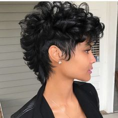 Best Picture For natural afro hairstyles red For Your Taste You are looking for something, and it is Short Sassy Hair, Short Hair Cuts, Beyonce Short Hair, Pixie Cuts, Curly Hair Styles, Natural Hair Styles, Mohawk Styles, Dope Hairstyles, Curly Mohawk Hairstyles