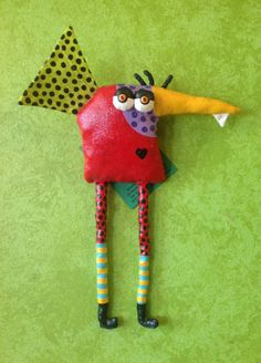 One Toof Goof Bird for the Wall by jodieflowers on Etsy.