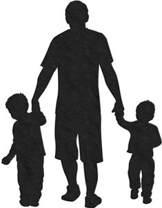 Silhouette Design Store: 2 sons and father