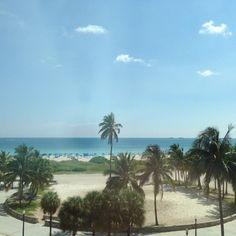 View from my hotel room. It's so beautiful! #SouthBeach #miami #florida #perfectweather #palmtrees #beachlife #endlesssummer #summer #bikiniseason #bikini #hot #luxuryhotel #TheTides #oceandrive #atlantic #eastcoast #whitesand #blessed #sohappy #bestlife (at Tides South Beach)