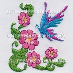 """Free Embroidery Designs, Cute Embroidery Designs    Butterfly Design #: 10073166 Price: $1.97  FREE Design Details Size (in): 3.35""""(w) x 4.13""""(h)"""