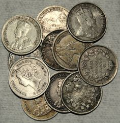 Silver Canadian Nickel LotCollection by CoinCreativity on Etsy, $56.25