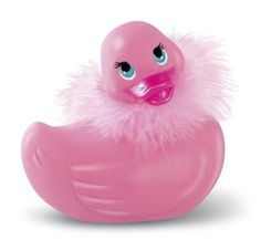 Paris is an elegant rubber duckie with a sensual secret - she vibrates! This small travel-sized version of Paris features a beautiful pearlized finish, a Swarovski crystal beak jewel and a removable feather boa.