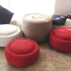Recycled tires and outdoor fabric for photo blind seating