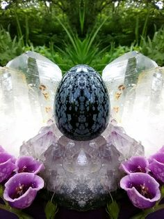 Yoni Egg Goddess Kit: Includes Energized Yoni Egg! (Large Undrilled Snowflake Obsidian 62817) by TheWomanWhole on Etsy #thewomanwhole #yonieggs #yonisteam #crystal #goddess #divinefeminine