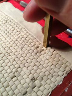 Make your own cobblestone for the train set