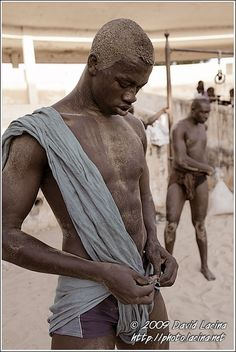 Preparing For Training - Traditional Wrestling, Senegal