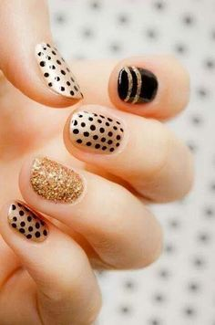 Tuesday's #NailCall: Gold Accents and Bold Patterns