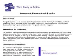 Classroom Vocabulary Assessment For Content Areas  Reading
