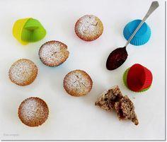 Gizi-receptjei.  Várok mindenkit.: Diós-lekváros muffin. Muffin, Cereal, Breakfast, God, Mocha, Breakfast Cafe, Muffins