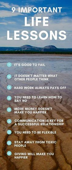 Life lessons to improve your everyday! #life #happylife #positive