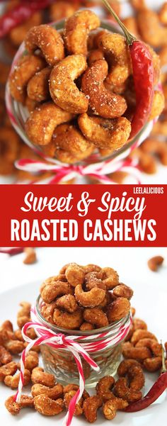 Spicy roasted - Sweet and Spicy Roasted Cashews are a delicious, wholesome snack for cooler weather Honey and chili powder give the yummy cashews their sweet heat and crunchy coating Tapas, Appetizer Recipes, Snack Recipes, Cooking Recipes, Appetizers, Spicy Nuts, Spicy Roasted Peanuts Recipe, Roasted Nuts Healthy, Cashew Recipes