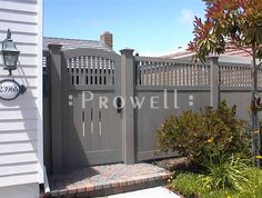 Something like this but in while?  front yard privacy fence - Google Search