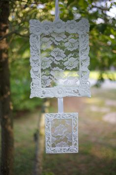 Double Shabby Chic Lace Jewelry Earring by RaindropsOnRosesB, $25.00