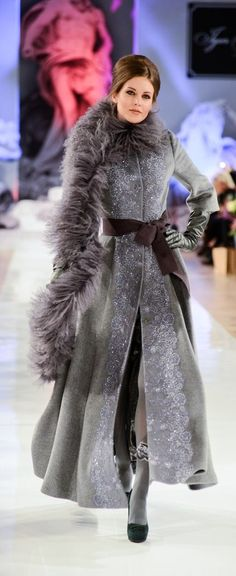 I love the coat, it's gorgeous......    Russian style by Igor Gulyaev, a fashion designer from Moscow.