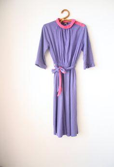 Block Farbe 80er Jahre Kleid von LilyAndPaigeVintage auf Etsy