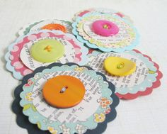 SALEA Touch of Vintage Paper Blooms LARGE 225 by chocolatecupcake