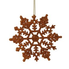 Glitter Snowflake Christmas Ornament