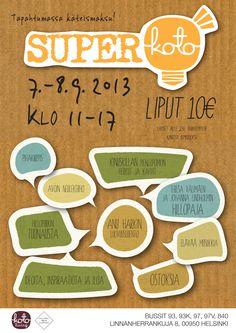 SuperKoto-tapahtuma 7.-8.9. Mukana myös Helsinki Food Company ja Purkissa! -kirja. Tervetuloa!