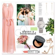 """Always a bridesmaid"" by mycherryblossom ❤ liked on Polyvore featuring Donna Morgan, Christian Dior and Bobbi Brown Cosmetics"