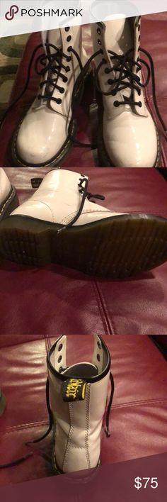 69c59687d9b Dr Martens shoes White Dr Marteen Shoes Lace Up Boots Zapatos De Tap,  Zapatos De